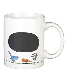 Take a look at this Chickadee Blackboard Mug by GANZ on #zulily today! $8 !!