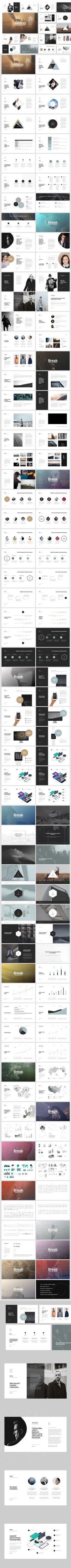 Rhino Keynote Presentation Template. Business Infographic. $20.00