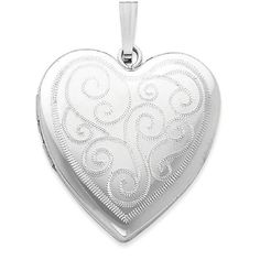 IceCarats 925 Sterling Silver 24mm Swirl Design Heart Photo Pendant Charm Locket Chain Necklace That Holds Pictures   Fine Jewelry Gift Set For Women Heart #jewelrynecklaces