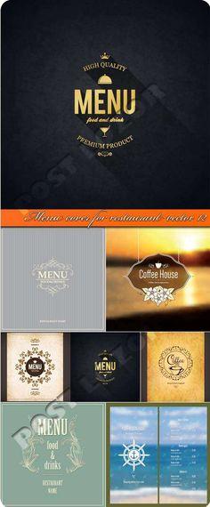 Обложка меню для ресторана 12 | Menu cover for restaurant vector 12