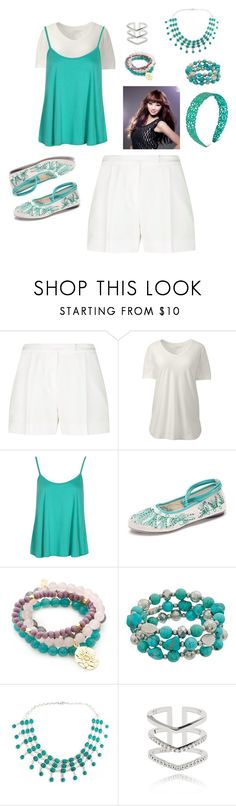 """""""MIestilo0669"""" by paolaalbo ❤ liked on Polyvore featuring Elie Saab, Lands' End, Boohoo, CO, Good Charma, NOVICA, Astrid & Miyu and plus size clothing"""