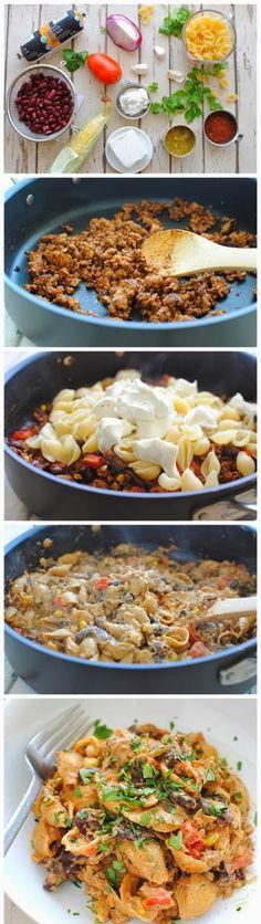 Chicken Taco Pasta | Food Blog