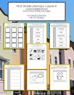 $3: 1st Grade Journeys (2014) Lesson 4 Interactive Notebook Pages. These interactive notebook pages are a great supplement to what is already included in the Journey's curriculum. I find that my students get more excited doing these types of activities rather than just workbook pages.