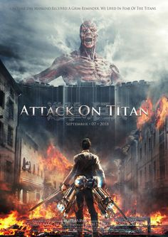 Attack on Titan - awesome poster, not sure I could watch this though, the anime was crazy intense enough!