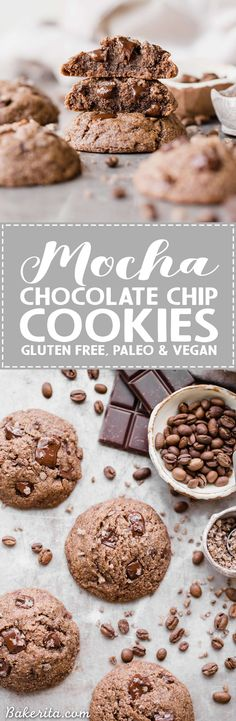 Calling all coffee lovers! These Mocha Chocolate Chip Cookies are irresistibly good, with the flavor of espresso shining through and dark chocolate chunks in every bite. You wouldn't guess that they're gluten-free, paleo and vegan.