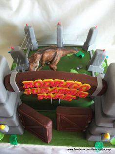 Bolo do Jurassic Park