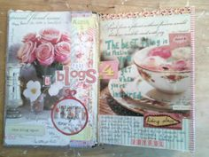 Alternative Bible Journaling in a blank or old book...using pictures from magazines, and writing scriptures and thoughts accompanying those pictures. Idea from The Painted Flower: Art Journaling