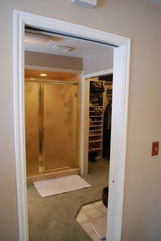 Master bath and closet.