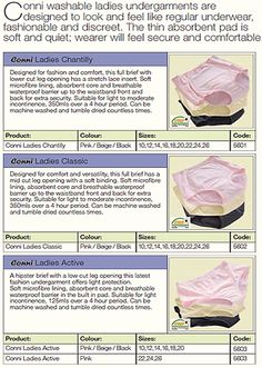 Adult Incontinence Ladies Undergarments  Western Cape, South Africa    Contact Conni-Western Cape (Pty) Ltd.  Adult Incontinence Products  Western Cape, South Africa  Call: 081 772 6015  Email: JP.vZ@Conni.co.za