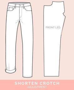Shorten Crotch Adjustment // 12 common jeans and pants adjustments // Closet Case Files