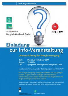 "Heute um 17 h [#gl1]: Infoveranstaltung ""Stadtwerke/Versorgung"" zieht in den großen Saal des Bergischen Löwen!"