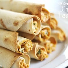 Baked Creamy Chicken Taquitos - will be on the menu on gameday!