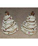 Lenox Jewels of Christmas Salt Pepper Shakers 24K Gold Trim - $25.00