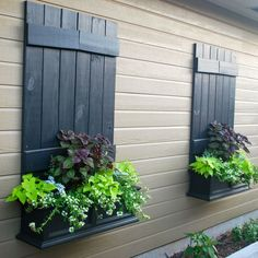 Image result for permanently boarding up windows using decorative shutters