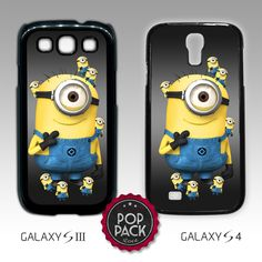 Cute Kawaii Minion Despicable Me Samsung Galaxy S3 S III S4 S IV Cover Case Minions Cute