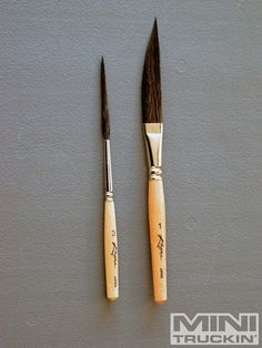 Kafka brushes...a script and a dagger are all you need to do most striping designs