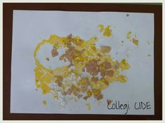 Collage de closca d'ou i témpera. 5 anys.