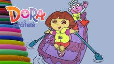 Dora and Friends Boat Coloring Book - Dora Coloring Page for Watch Video