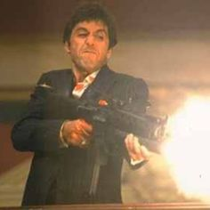 "TONY MONTANA  1983  SCARFACE.....""Say Hello to My Little Friend"""