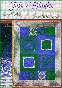 Jake's Blankie free CAL (Crochet ALong) by Jessie At Home - January 5 - April 6, 2015, free crochet patterns for baby/toddler/crib sized blanket
