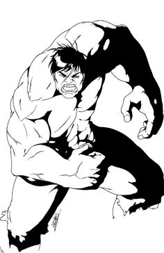 Hulk black & white