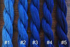 Chinese Indigo Blue Cotton Sashiko Yarn Five color/ 100