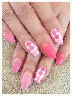 Great polka dot design. I would forego the extra design at the cuticle, but other than that I like the look.
