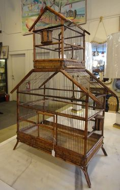 finch cages | Antique French Finch bird cage | Just because I like it. . . .