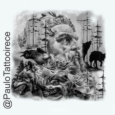 Arte feita ``Photoshop CS6`esta disponível para tatuar interesados chamar no ibox Artista grafico : Paulo Tattoo Irecê Rua : são Jorge nº32 Bairro: são José Whatsapp :(74)99957-3677 Norse Tattoo, Tattoo On, Lion Tattoo, Chest Tattoo, Back Tattoo, Tattoo Quotes, Skull Tattoo Design, Tattoo Designs, Vikings