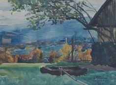 Brandes, Willy (1876-1956)  Landschaft 1931 #kunstkauf #aquarell #landschaft
