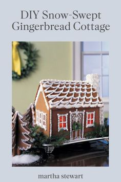 See how to make a festive snow-swept gingerbread cottage with our step-by-step tutorial for this classic holiday craft. #marthastewart #christmas #diychristmas #diy #diycrafts #crafts Holiday Foods, Holiday Recipes, Christmas Treats, Christmas Time, Yummy Recipes, Cottage Meals, Snowy Weather, Holiday Crafts, Xmas