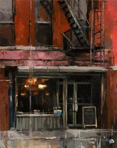 """Daily Paintworks - """"tribeca NYC"""" - Original Fine Art for Sale - © Victor Bauer"""