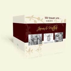 Hochzeitskarte Ranke in Braun