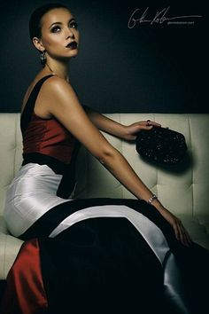 Mirjana Puhar R.I.P Lovely woman!  Beautiful dress & clutch bag.  #GoneTooSoon