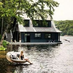 Lakeside house
