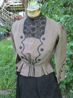 Antique - Victorian/Edwardian Womens Blouse and Skirt