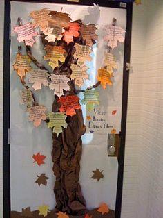 Fall tree door decoration