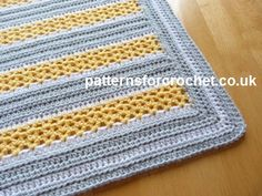 Free PDF baby crochet pattern for stroller blanket http://patternsforcrochet.co.uk/v-stitch-stroller-blanket-usa.html #patternsforcrochet