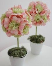 Wedding Shower Centerpieces, Pink Centerpieces, Silk Roses, Silk Flowers, Rose Trees, Silk Flower Arrangements, Candle Holders, Candles, Plants