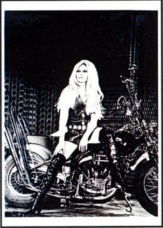 Bridget Bardot on Harley Davidson