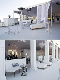 My mind is going with ideas to get the white party popping.