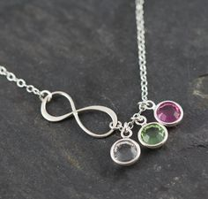 Mothers Infinity Necklace Sterling Silver by SimplisticaDesign, $28.00
