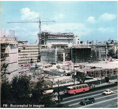 Teatrul Național și hotelul Intercontinental încep a se Bucharest Romania, Time Travel, Times Square, Buildings, Memories, In This Moment, Pictures, Romania, Memoirs