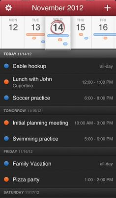 Fantastical v 1.0.1 (iPhone / iPod Touch / iPad) (Application)