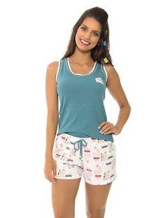 Pijama regata de bionature e malha 100%