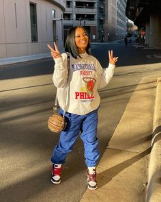 Swag Outfits For Girls, Chill Outfits, Cute Swag Outfits, Cute Comfy Outfits, Teenager Outfits, Trendy Outfits, Tomboy Fashion, Streetwear Fashion, Baddie Outfits Casual