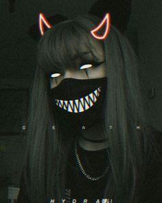 Dark Anime Girl, Manga Anime Girl, Aesthetic Girl, Aesthetic Anime, Psycho Wallpaper, Blood Anime, Psycho Girl, Horror Photos, Beautiful Dark Art