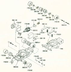 Identifications: HO Scale Slot Car Chassis: Aurora AFX Speed-Shifters