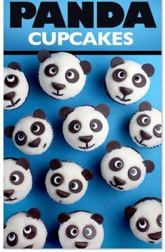 Aprenda a fazer o cupcake de urso panda. Além de ser muito fofo, fica simplesmente uma delícia.