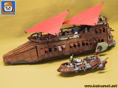 https://flic.kr/p/WiLedy | JABBA BARGE KHETANNA | My new intructions for the Jabba's Barge are ready and for sale in my shop: www.baronsat.net/baronshop/STAR-WARS/Barge/VERSION4-2017/...  this is my 4th version of that ship, the first oen is from 2000.  See all my models on my website.